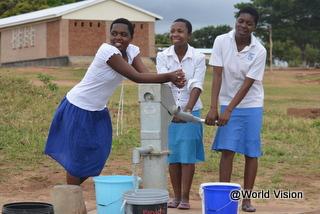 安全な水が飲めるようになりました