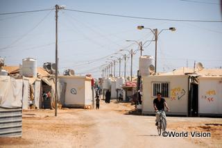 ヨルダンの難民キャンプ