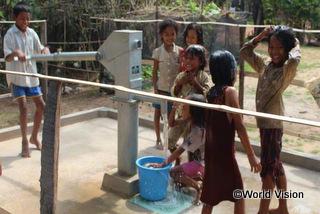 村の子どもたちの水へのアクセスや衛生状態が改善し、手を洗う習慣も身に付きました