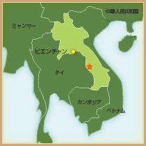 地図(ラオス)