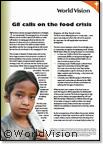 G8 calls on the food crisis