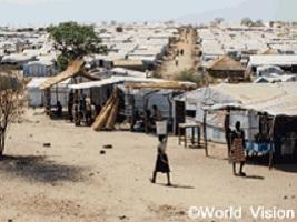 南スーダンの難民キャンプ