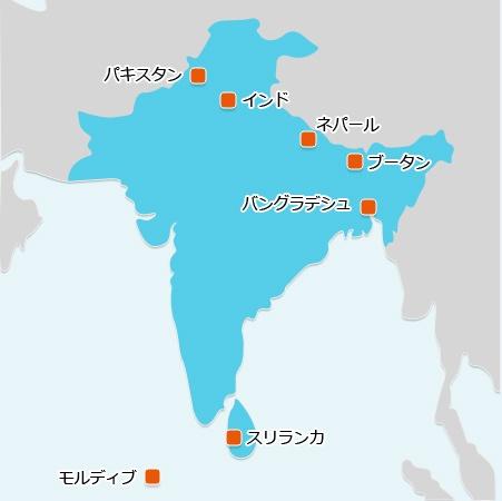 外務省HP:ODA(政府開発援助)南アジア地域 より