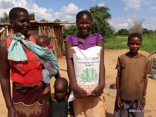 ザンビアでの食糧支援