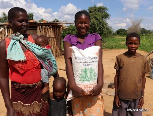 ザンビアでのワールド・ビジョンの支援活動の様子