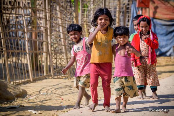 WVが支援するバングラデシュ・コックスバザールの難民キャンプの子どもたち