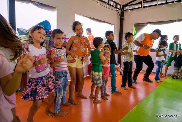 ワールド・ビジョンがコロンビアで支援しているベネズエラ難民の子どもたち