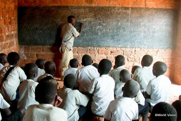 コンゴ民主共和国の小学校