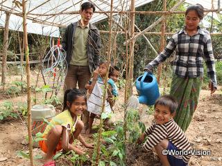乾期にも育つ作物の栽培や有機農法を取り入れたラムトンちゃんの家族