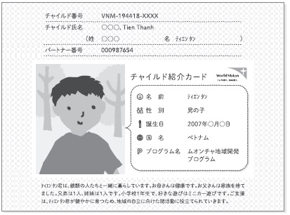 「チャイルド紹介カード」