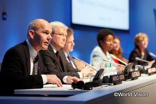 Kevin Jenkins, WVI President, addresses the UN General Assembly on behalf civil socity