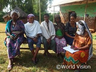 エチオピアの母親たち