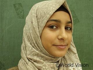 シリアから避難してきたブシュラさん(13歳)