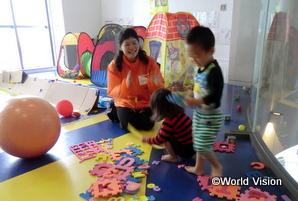 熊本地震では、被災した子どもたちが自由に集い、安心して遊べる場所を運営