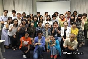 福岡で開催したワールド・ビジョン カフェの様子