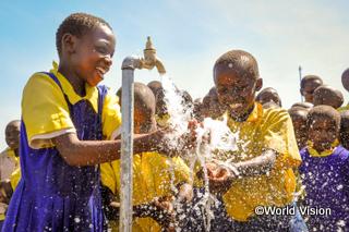 joyful children for water system (Kenya)