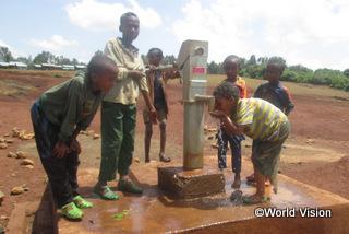 【デラ地域】「これまでは、汚れた水を遠くの泉で汲んで運んでいました。でも今は家の近くで安全な水を汲むことができます。」 アビヨット君(14歳)