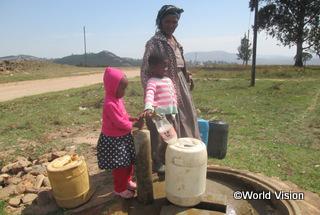 【ゲゲ地域】「家の近くできれいな水を得られるようになり、遠くまで水を汲みに行かなくてもよくなりました。」 アサケちゃん(9歳)