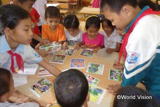 【チャンエン地域】「きれいな水と公衆衛生についての講習会に参加し、石鹸で手を洗う、学校を清潔に保つといった、以前は気にしていなかったけれども大切な習慣を学びました。」 ハン君(9歳)