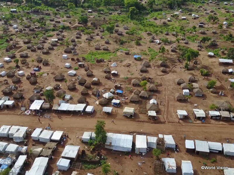 ビディ難民居住地の様子