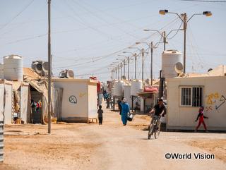 ヨルダンのシリア難民キャンプ