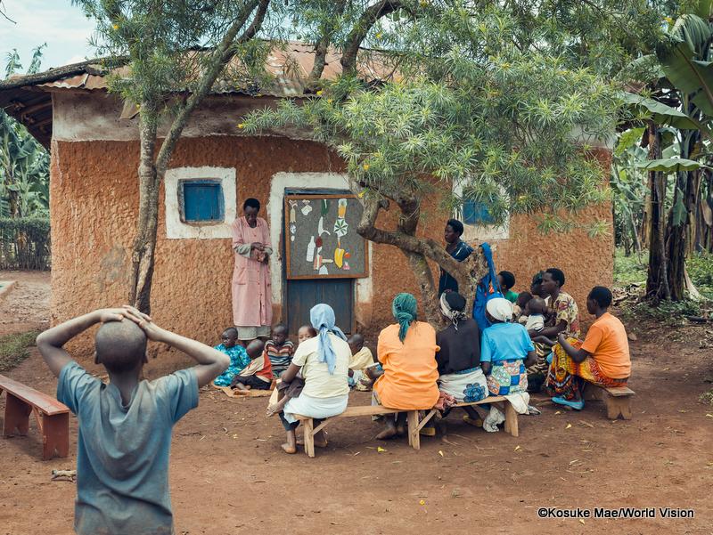 栄養クラブの様子(ルワンダ)