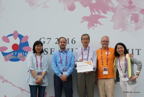 2016年伊勢志摩サミットに参加したワールド・ビジョンのスタッフ