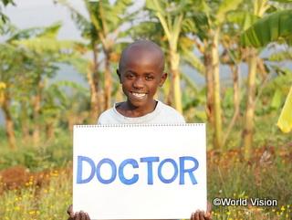 「夢はお医者さんになること」と話すルワンダの子ども