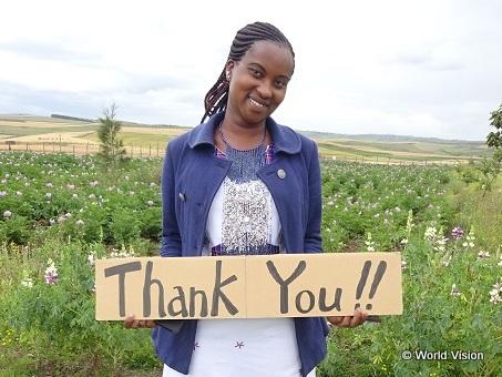 小学校6年生の時にFGMから逃れ、支援を受けて学校に通い続けたピュリティさん(22歳)。現在は大学で教育学を学んでいます