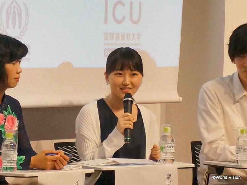 高校生からの質問に、率直に答えながらも励ましのメッセージを送った鈴木さん