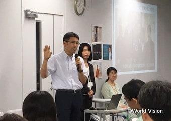 上智大学の小松教授に事業の解説をしていただきました