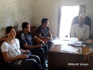 2017年からネパール支援に関わる小園スタッフ