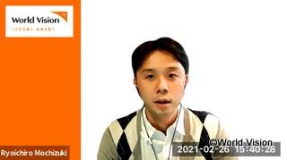 リモートで阿部さんにインタビューをした望月スタッフ