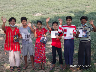 ミャンマーの支援地域の子どもたち