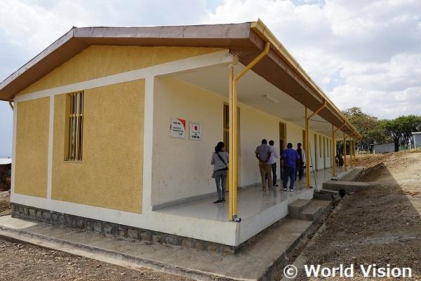 支援で建設された産科棟のひとつ