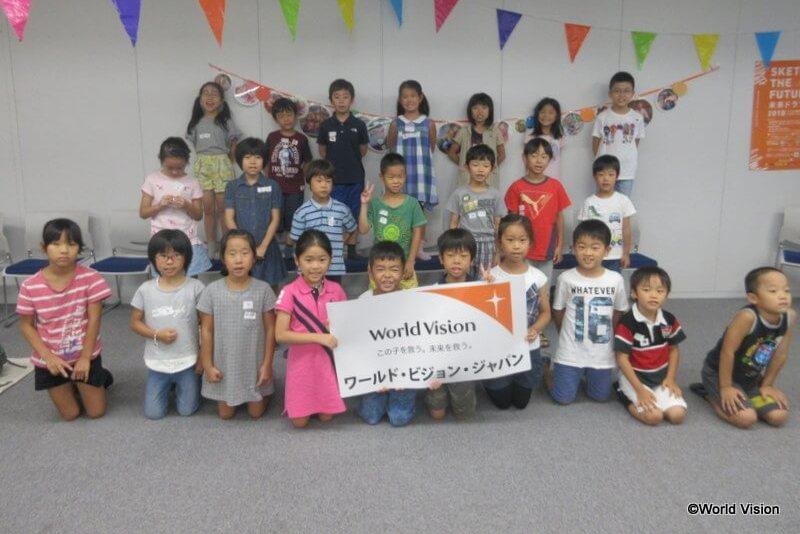 7月28日午前の部に参加した子どもたち
