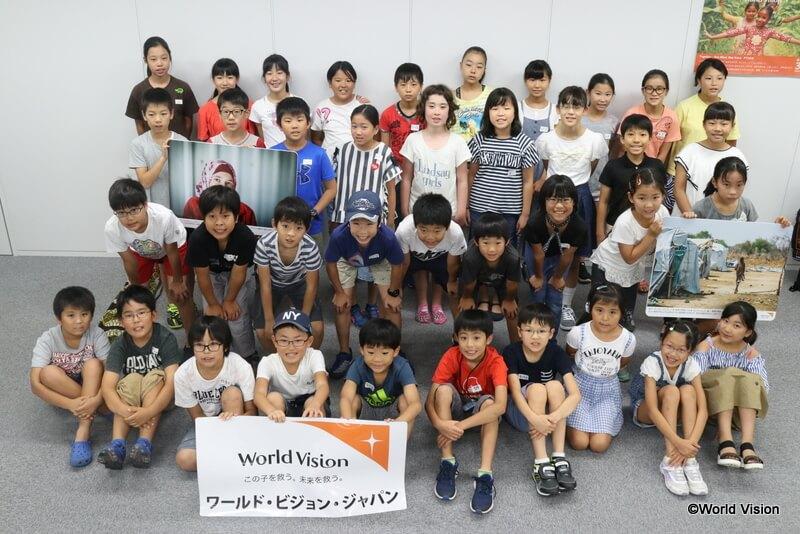 8月2日に参加した子どもたち