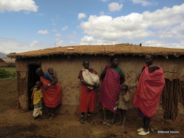 マサイ族の家