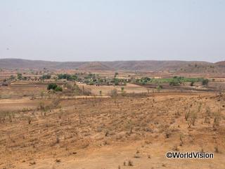 干ばつが起こった農地