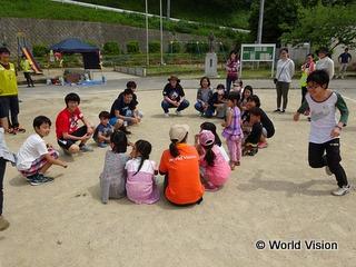 5/5のこどもの日に御船小学校で開催したイベントで一緒に遊んだ子どもたち