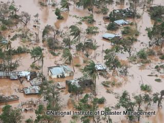 洪水の様子