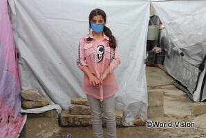 シリア難民キャンプで暮らすヤスミンさん(レバノン)