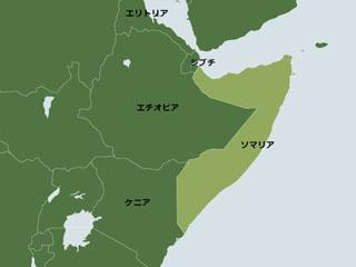ソマリアの地図