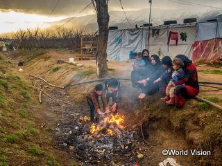 シリアから避難した家族