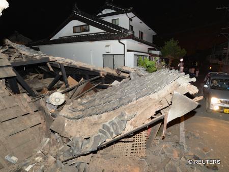 平成28年熊本地震の被災地の様子