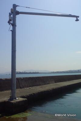 市内に設置された潮位・津波観測システム