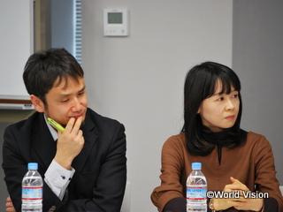 国際NGOとしての活動経験を共有してくださったケア・インターナショナルの玉熊氏(左)と菊池氏(右)