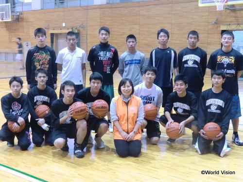 支援した部活動用具(バスケットボール等)は大切に活用されています