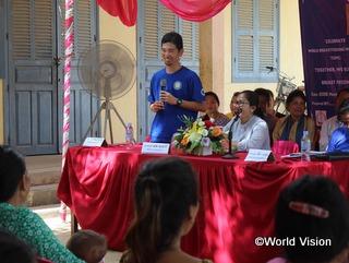 カンボジアに駐在している松岡スタッフ