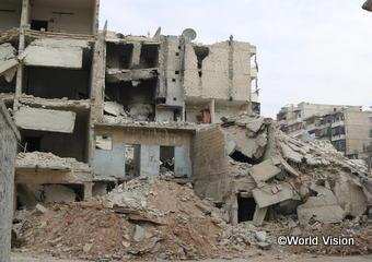 紛争により破壊されたシリアの市街地